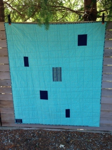 Back of Night For Life Gala quilt