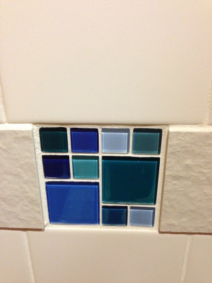 Bathroom tile at YVR