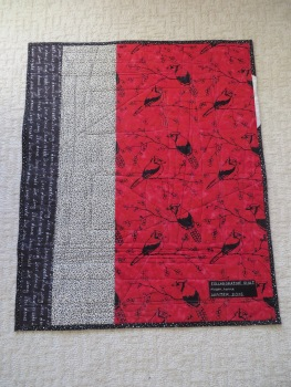 Back of Collaborative quilt.