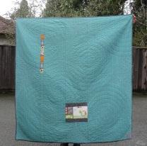 Back of Kohala Koi quilt.
