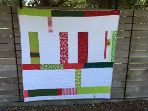 Pieced back of quilt