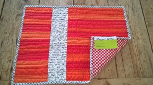 Placemat for raffle basket.